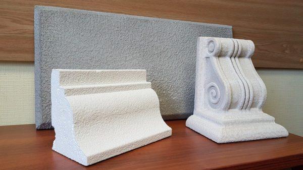 Элементы декора фасада покрытые метапластом