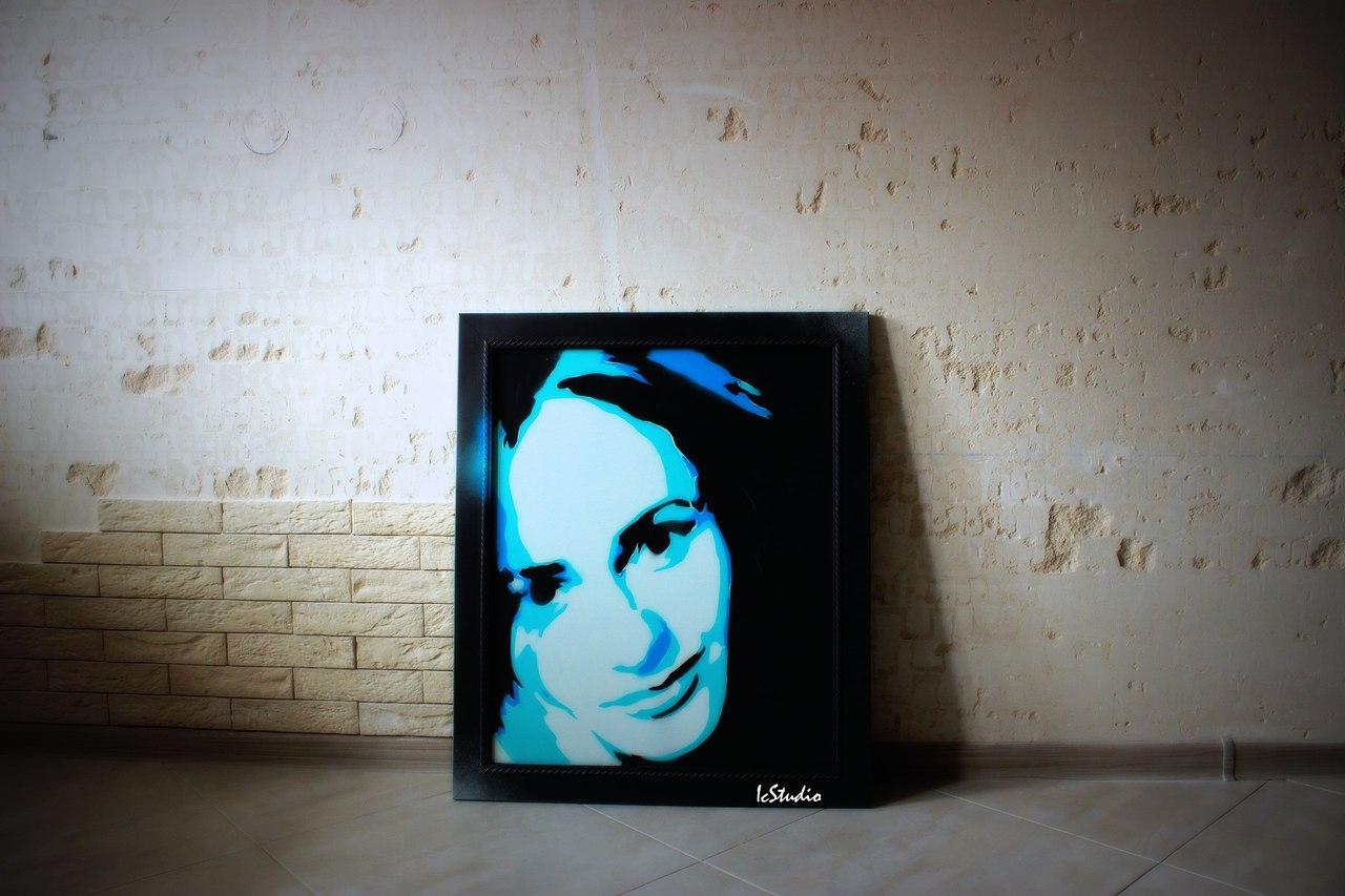 портрет граффити